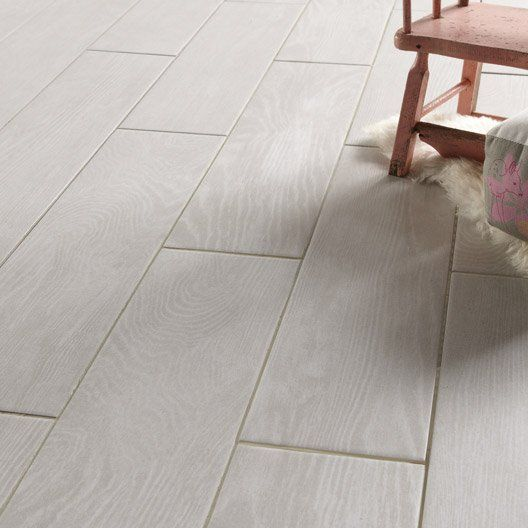 Carrelage interieur tropic en gres cerame emaille blanc for Carrelage interieur gris