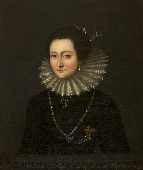 Lady Diana Cecil (1596–1654), Countess of Oxford & Elgin by Cornelis Janssens van Ceulen(after):