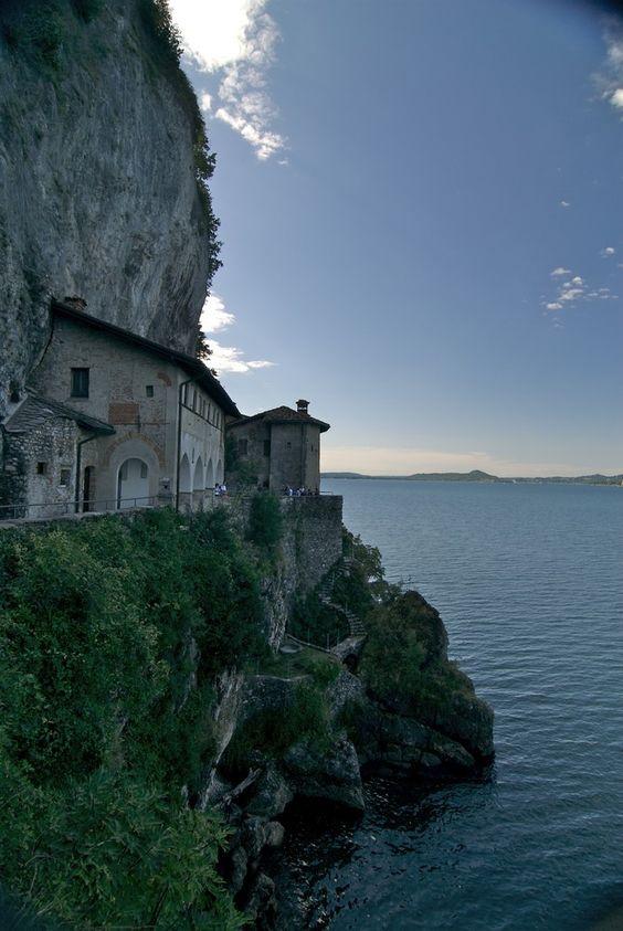 The Hermitage of Santa Caterina del Sasso, Lake Maggiore, Italy