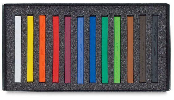 """Faber Castell Polychromos Pastels [""""hard"""" pastels] Set of 12, Blick."""