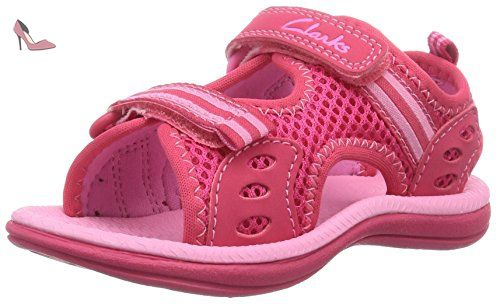Clarks SprintZone Inf, Sneakers Basses Fille - Rose - Pink (Pink Combi), 28