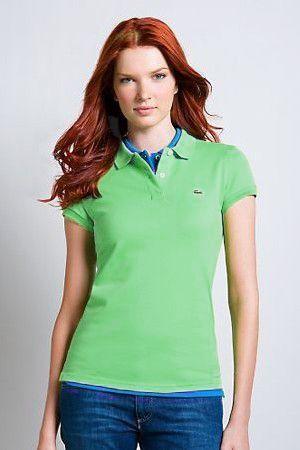 Womens Classic Short Sleeve Polo Shirt Lime Green