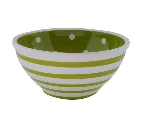 green stripes and polka-dot bowl