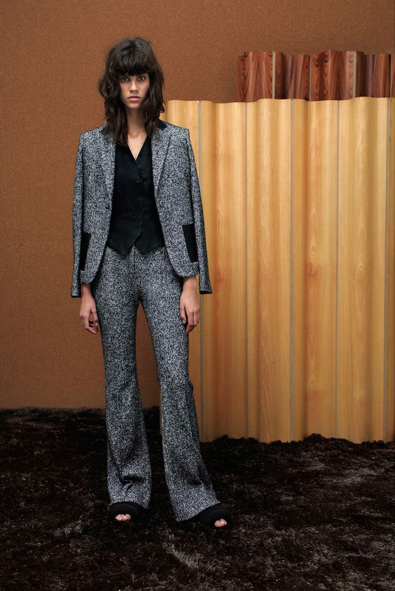 How to style womens pantsuits advice, where to buy trendy autumn fashion blazer & trouser UK online, daily tips what to wear work outfit