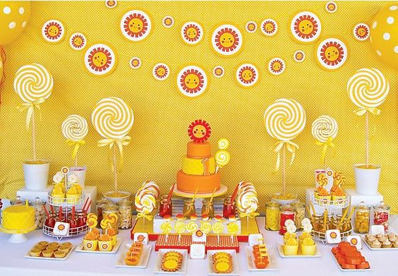Primeiro aniversário: festa Sunshine