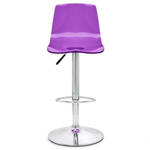 Odyssey Acrylic Stool Purple Designer Bar Stools Purple Bar