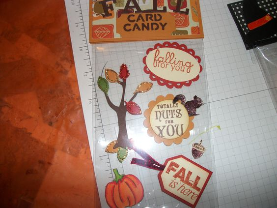 Fall card candy I made