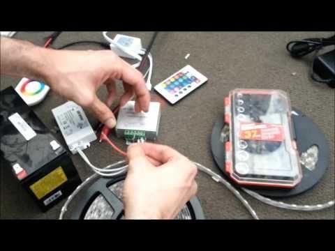 425 Led Strip Rgb Controller Installation Guide Diy Help Youtube Led Strip Lighting Installing Led Strips Rgb Led Strip Lights