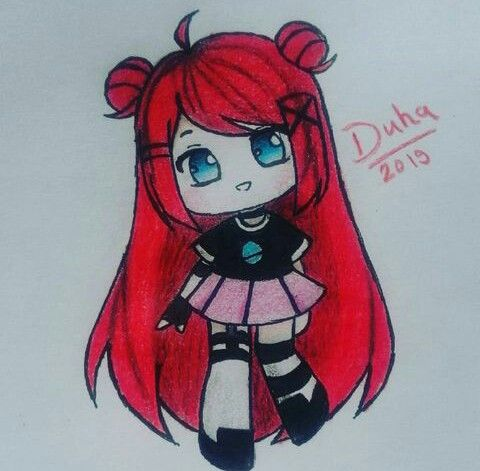 Red Haired Chibi Insta D Aart 3 Art Sketches Art Chibi