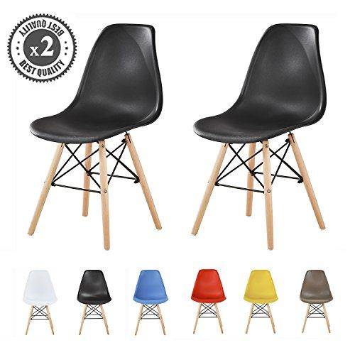Mcc Set Of 2 Modern Design Dining Chairs Eiffel Retro Lounge