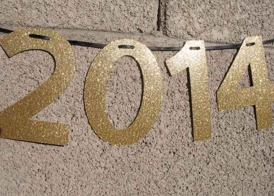 2014 banner, Happy New Year banner, Happy New Year decoration, New Year's Eve party decoration