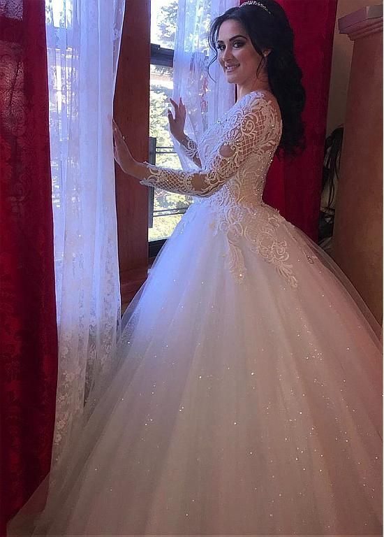 Wedding Dresses Ball Gown Fascinating Tulle Jewel Neckline Ball
