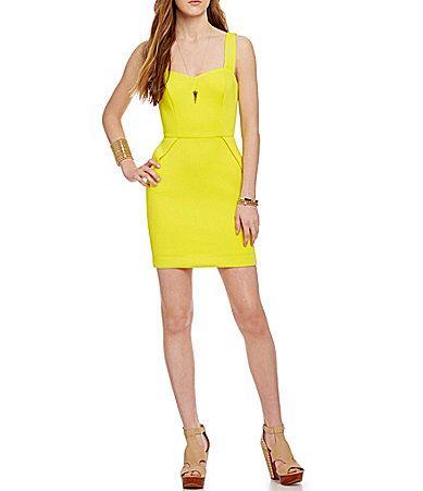 GB Sweetheart Neckline Scuba Dress #Dillards