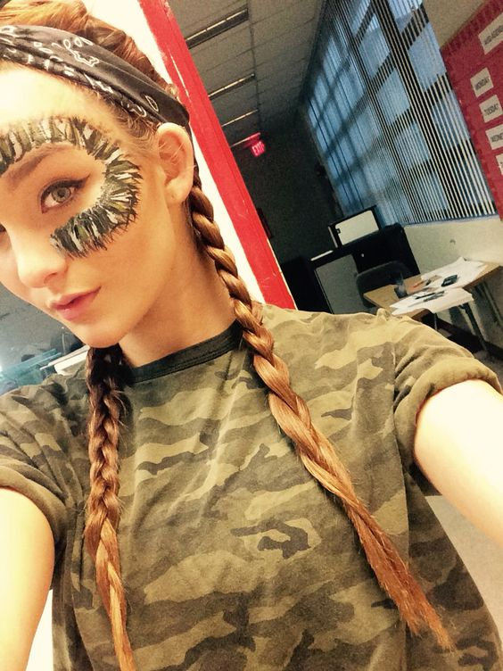 Homecoming day3 camo day- camo face paint