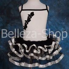 $0.99 Blanco Cinta de la colmena Ballet Tutu Vestido de Disfraz Hada Niña Dancewear 4-5T #026