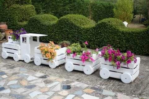 Cajones reciclados y reutilizados