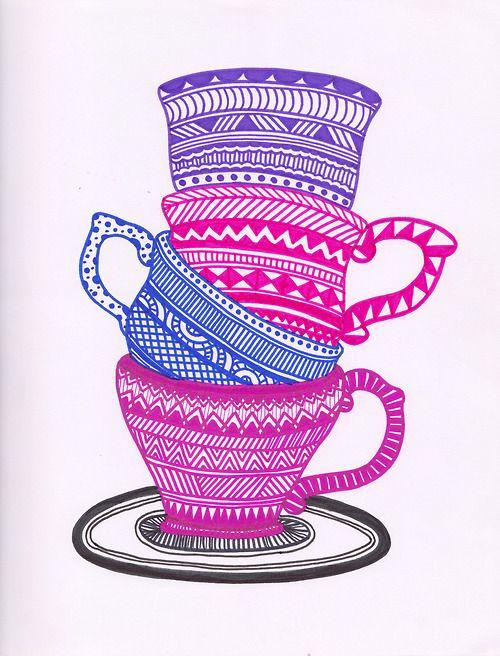 Teacup Stack!......Emily Jarvis Design....