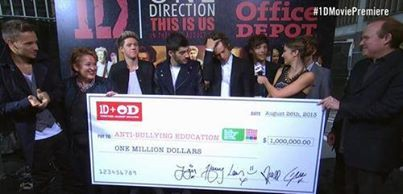 The boys raised $1 Million for anti-bullying!!!!