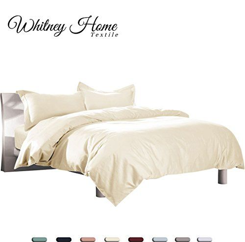 Hotel Quality 100 Natural Cotton Duvet Cover Set King 3 Pieces Soft Hypoallergenic Breathable Comforter Case High T Duvet Cover Sets Ivory Bedding Duvet Covers