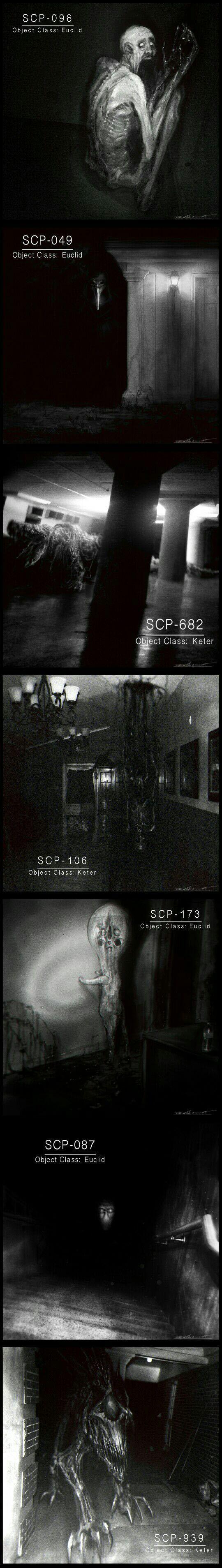 Creepy SCP monsters by Cinemamind
