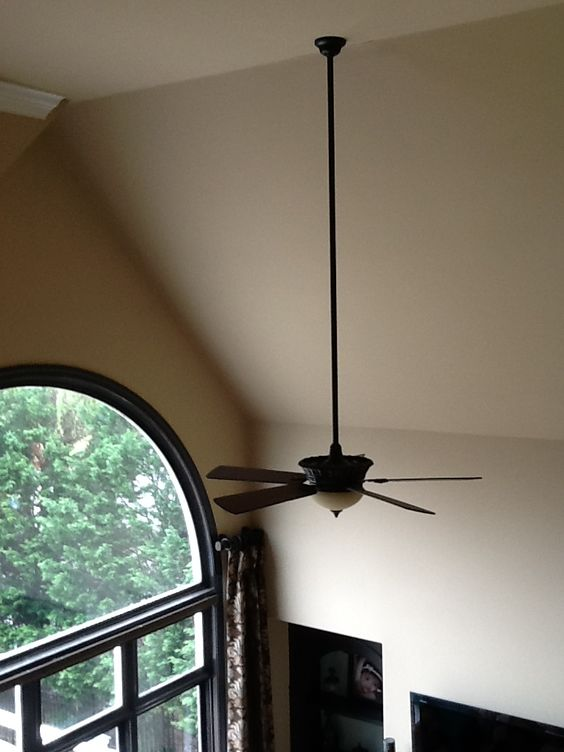 We can install ceiling fans on any height ceiling.  TE Certified Electricians 770-667-6937
