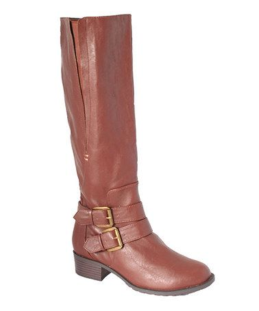 Another great find on #zulily! British Tan Boston Wide-Calf Boot #zulilyfinds