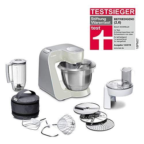 Bosch Mum58l20 Machine Compacte Pour Cuisine 1000 W 39 L Gris Mineral Argent Robot Cuisine Multifonction Petit Electromenager Ustensile Cuisine