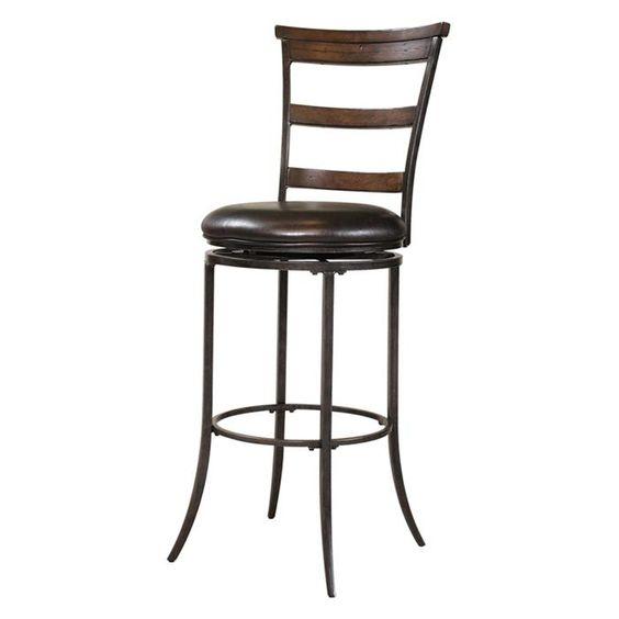 Furniture Cameron Ladderback Bar Stool in Chestnut Brown