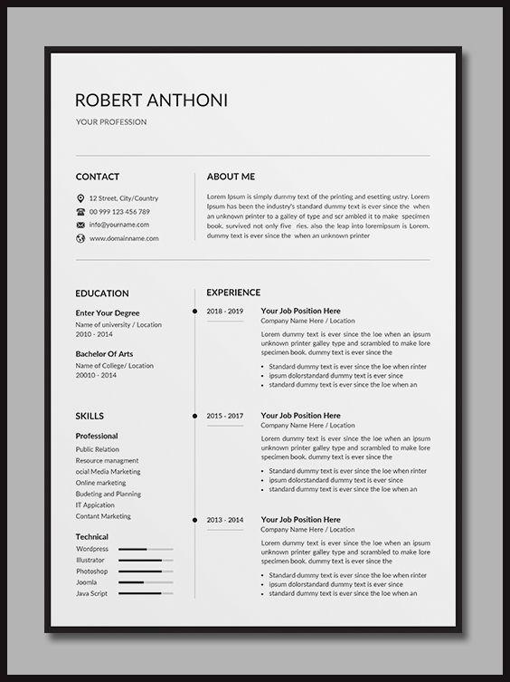 Resume Cv Resume Design Template Unique Resume Template Cover Letter For Resume