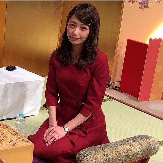 赤色ドレスの宇垣美里