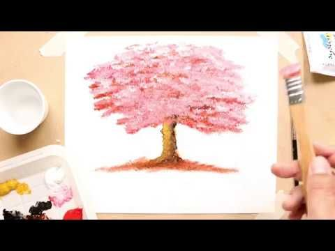 How To Draw A Tree In Acrylic Colors Simple Drawing Easy Drawings Acrylic Colors Drawings