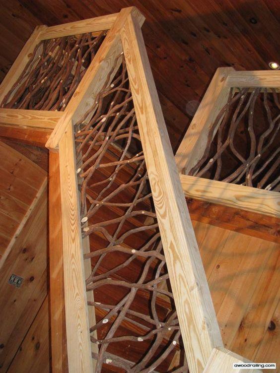Rustic Mountian Stair Railings: Rustic Wood, Volunteers And Stairs On Pinterest