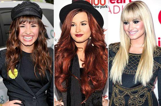 Demi Lovato Haarfarbe Entwicklung Frisuren Haare Mehr
