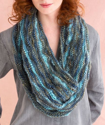 Knitting Patterns Red Heart Yarn : Multi-Wear Cowl Free Knitting Pattern in Red Heart Yarns ...