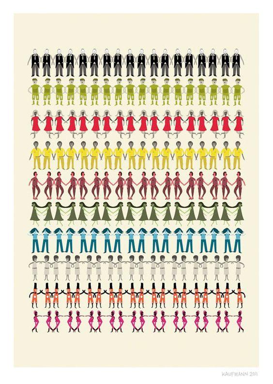 Gente Print diferentes tamaños por JudyKaufmann en Etsy