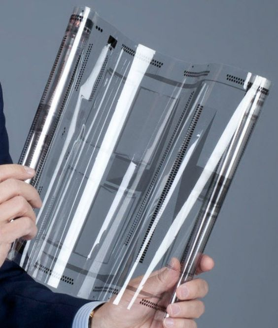 Flexible touch screen? Could be real cool for magazines...