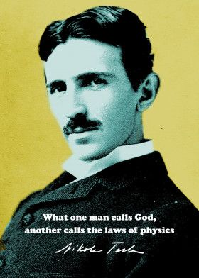 Nikola Tesla Quote 1 Text Art Poster Print | metal posters - Displate