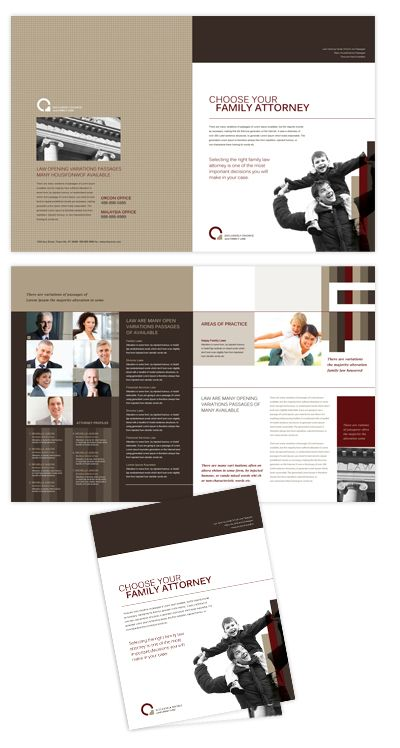 Family law brochure template will be a good choice for for Brochure templates for photoshop cs5
