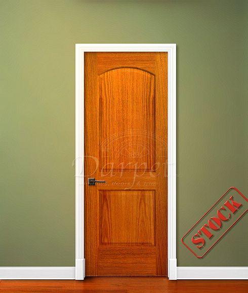 2 Panel Arch Top Red Oak 6\u0027-8\