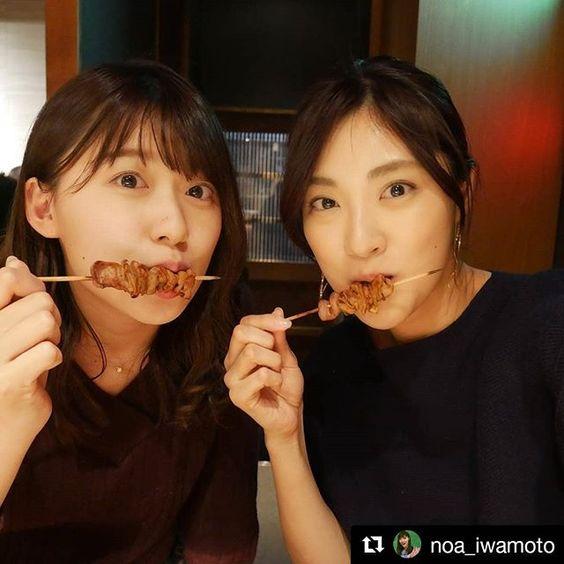 焼鳥えお食べる尾崎里紗さん