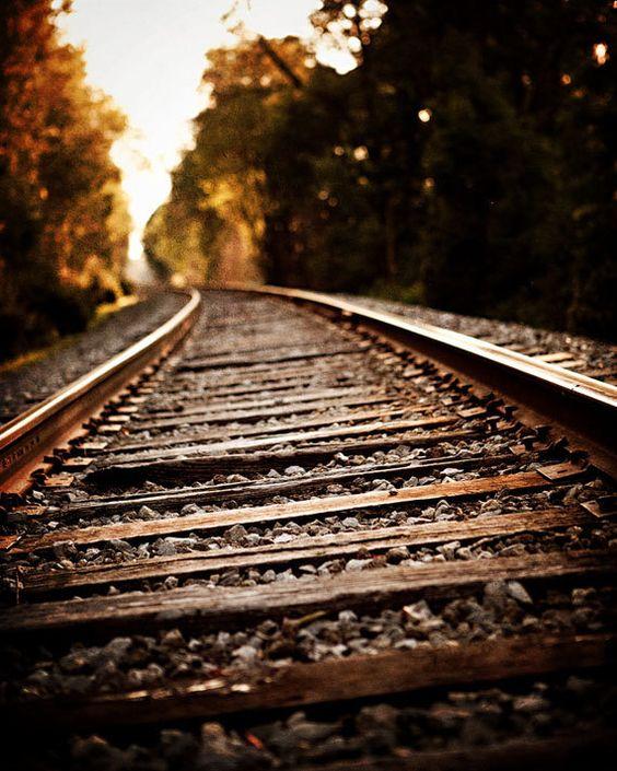 Rustic Wall Decor Industrial Decor Railroad Landscape