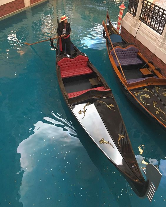 THE VENETIAN® MACAO RESORT HOTEL ~ the Gondola , quietly and gently glide under small bridges -  Macao  China_ Travel  May 18 - 2016.
