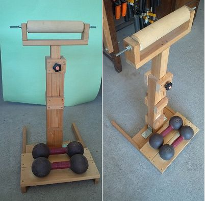 Homemade Adjustable Roller Stand Woodworking Pinterest Homemade And Rollers