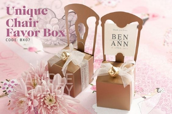 http://fr.aliexpress.com/item/Aliexpress-Free-Shipping-Miniature-Gold-Chair-Favor-Box-144pcs-TH002-B-Wedding-favor-and-wedding-gift/661037228.html      Vos Fvaors de mariage uniques 上海倍乐礼品http://aliexpress.com/store/product/120pcs-Free-Shipping-chocolates-and-candy-bag-wedding-decoration-Palm-Tree-wedding-Favor-Box-TH014-use/513753_650807497.html  #cadeaux #mariées #faveurs #mariage #wedding