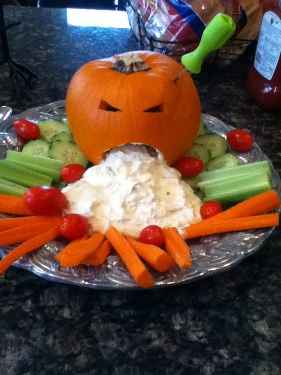 barfing pumpkin veggie dip is this too gross for graders