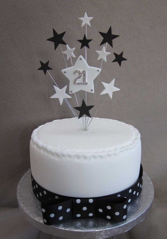 21st Birthday Cakes, Small Cake And Birthday Cake Toppers