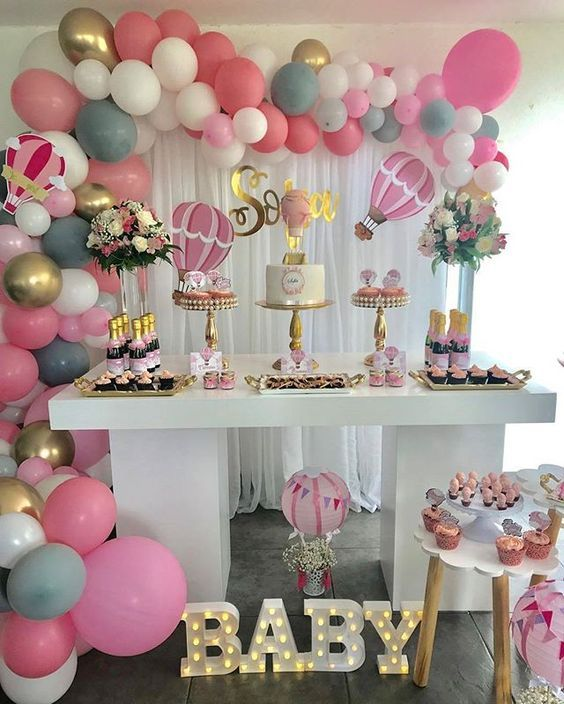 Ideas De Decoracion Baby Shower Nina.Decoracion Baby Shower Nina Elegante Mesa Decorada Para