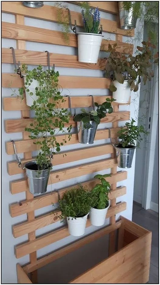 47 Hanging Shelves Herb Garden Ideas 76 Homydepot Com Small Herb Garden On The Balcony A Herb Garden D In 2020 Herb Garden Wall Small Herb Gardens Garden Shelves