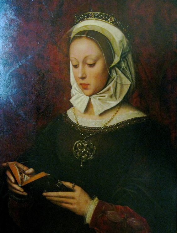 "Ambrosius Benson (ca. 1495/1500) ""Young Woman Reading"":"