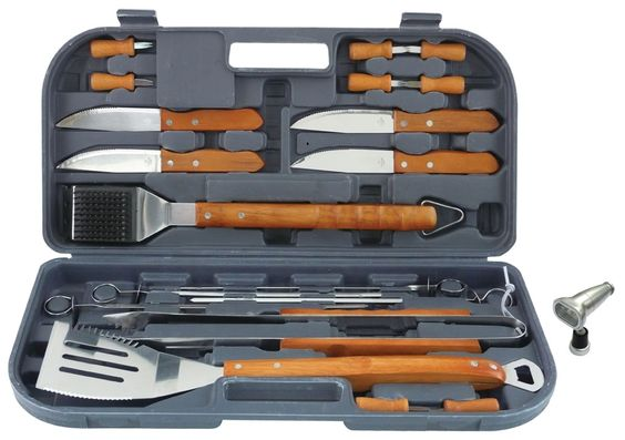 Brobility.com reviewed the 20-piece Mr. Bar-B-Q grilling set. Check it out! #grillinggear